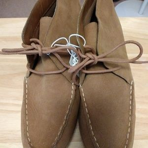 Women's Tan Faux Suede Lace-up Boots-Old Navy